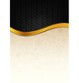 The black celebration paper with golden stripe vector image
