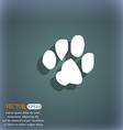 trace dogs icon symbol on the blue-green abstract vector image
