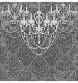 Vintage chandeliers vector image