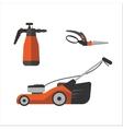 Watering sprayer and garden secateurs vector image