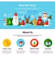 New Year Party Web Design vector image
