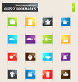 dishes bookmark icons vector image