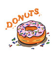 donut with topping vector image