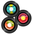 vintage 45 record label designs set 1 vector image