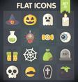 Halloween Universal Flat Icons Set 13 vector image vector image