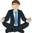 Businessman is meditating vector image vector image