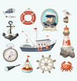 Set of fishing items vector image