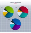 set of colorful pie charts - for your presentation vector image vector image