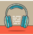 Headphones red vector image vector image