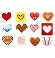 Colourful heart shapes set vector image