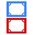 postage stamps with perforations on different back vector image vector image