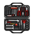 Tool Box With Toolkit Set vector image
