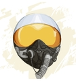 Military flight helmet vector image