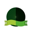 badge blank space green design vector image