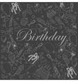 Birthday chalk vector image