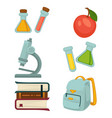 chemistry specialized students belongings isolated vector image