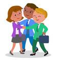 female teamwork vector image