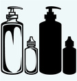 Hygiene products in plastic bottles vector image