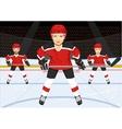 male ice hockey team vector image