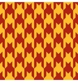Pattern with red figures on a yellow background vector image
