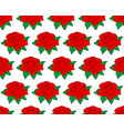 red rose flower pattern vector image