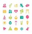Set of 25 holidays icons vector image