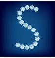 vector diamond alphabet lette s vector image