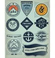 Vintage Insignias and logotypes set design vector image
