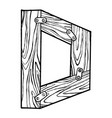 wooden letter d engraving vector image