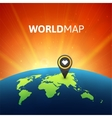 World map infographic design vector image