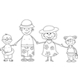 Happy Family By the Sea vector image