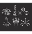 Christmas fireworks on dark background vector image