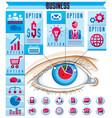 creative infographics concept human eye looking vector image