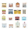 city street building shops real estate vector image vector image