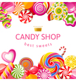 Bright background with candies vector image vector image