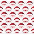 Pattern of Santa Claus vector image