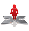 woman making a choice on crossroads vector image vector image