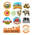 farm labels vector image