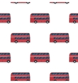 seamless pattern of the classic red double-decker vector image