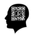 Barcode head vector image