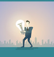 business man new creative idea concept hold light vector image