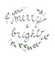 Handwritten Christmas with Christmas carol vector image