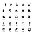 ocean and sea life glyph icons 3 vector image