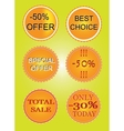 Set of offer labels vector image