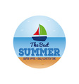 Summer vacation items vector image