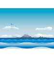 Islands in ocean vector image