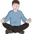 Meditation man vector image vector image