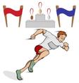 Athlete runner vector image