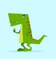 green dino in action 06 vector image vector image