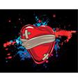 heart with splash vector image vector image